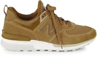 New Balance T3 Suede and Mesh Sneakers