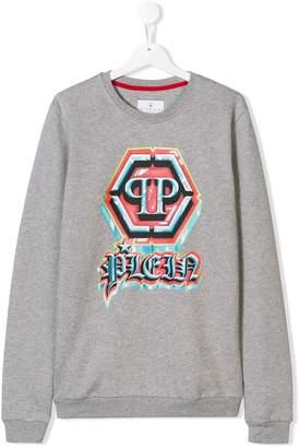 Philipp Plein Junior logo sweatshirt
