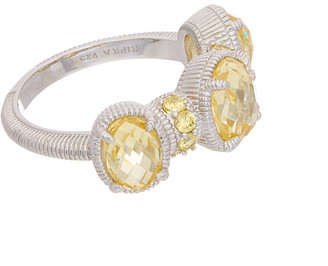 Judith Ripka Silver Cz Ring
