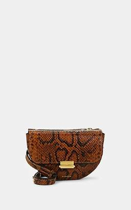 Wandler Women's Anna Small Python-Stamped Leather Belt Bag - Brown