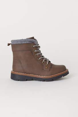H&M Fleece-lined Boots - Brown