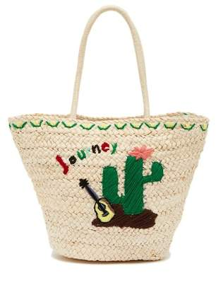 Pink Haley Cactus Straw Tote