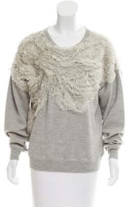 Jason Wu Silk-Trimmed Wool Sweater