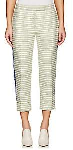 Thom Browne WOMEN'S CLASSIC COTTON-BLEND TWEED TROUSERS