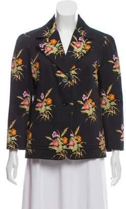 No.21 No. 21 Floral Print Button-Up Blazer