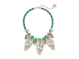 Betsey Johnson Colorful Palm Leaf Statement Necklace