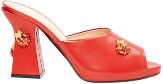 La Perla Red Leather Sandals