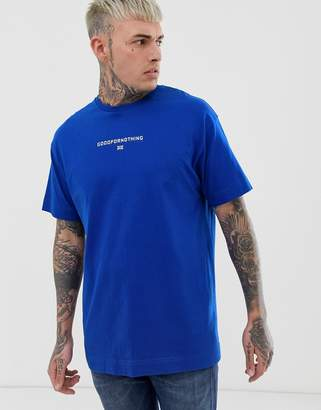 671ce6dde1ba1 Good For Nothing oversized t-shirt in blue with small logo