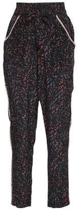 IRO Joey Printed Silk Crepe De Chine Tapered Pants
