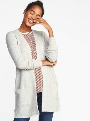 Old Navy Plush-Knit Long-Line Open-Front Sweater for Women