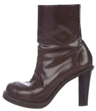 Balenciaga Leather Brogue Ankle Boots