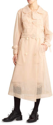 Simone Rocha Tulle Belted Trench Coat