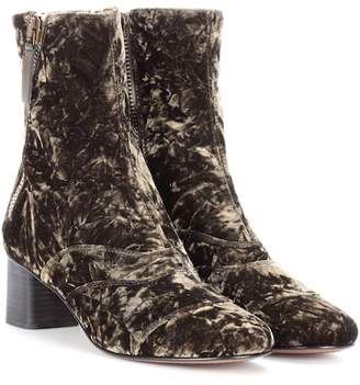 Chloé Lexie velvet ankle boots