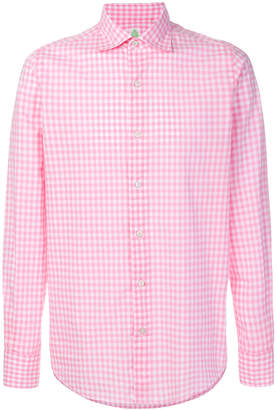 Finamore 1925 Napoli checkered shirt