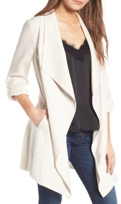 Women's Astr The Label Drapey Roll Tab Sleeve Jacket $135 thestylecure.com