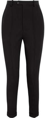 Isabel Marant - Jo Wool-twill Slim-leg Pants - Black