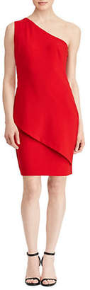 Lauren Ralph Lauren Two-Tone One-Shoulder Dress