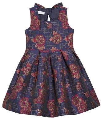 Iris & Ivy Floral Print Bow Back Dress