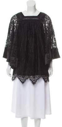 7b007f9ddb7 Black Lace Tunic Top - ShopStyle