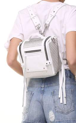 McQ Mini Loveless Convertible Studded Leather Backpack
