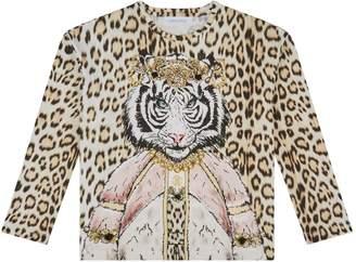 Roberto Cavalli Embellished Tiger T-Shirt