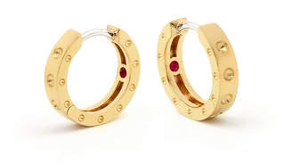 At Goldsmiths Roberto Coin Symphony 18ct Yellow Gold Hoop Earrings With Round Design