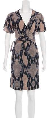 Just Cavalli Printed Wrap Dress