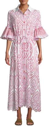 Evi Grintela Valerie Cotton Lace Shirtdress