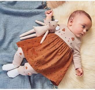 Next Girls Rust Cat Dress And Leggings Set (0mths-2yrs) - Brown