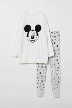 H&M Pajama Top and Leggings - White