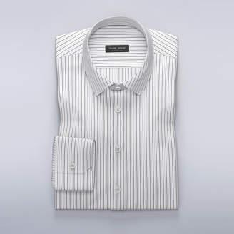 Stylish dress shirt with thin black stripes
