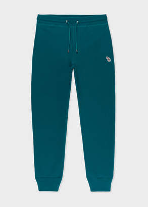 Paul Smith Men's Teal Zebra Logo Cotton Sweatpants