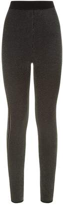 Balmain Stitched Stretch Knit Leggings