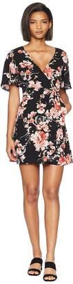 BB Dakota Wait Until Dark Floral Rap Dress Women's Dress