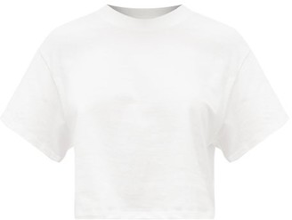 Hanes X Karla - The Crop Cotton Jersey T Shirt - Womens - White