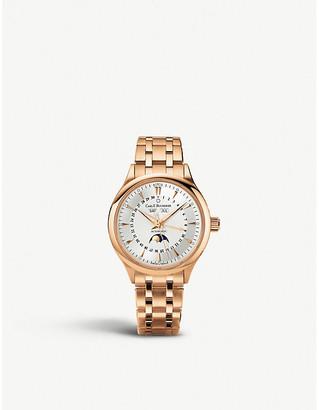 Rosegold CARL F BUCHERER 00.10909.03.13.21 Manero Moonphase 18ct rose-gold watch