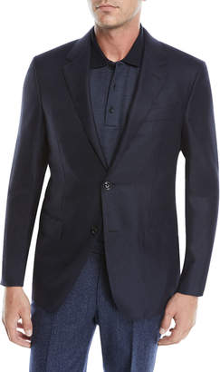 Ermenegildo Zegna Men's Two-Button Cashmere-Silk Jacket