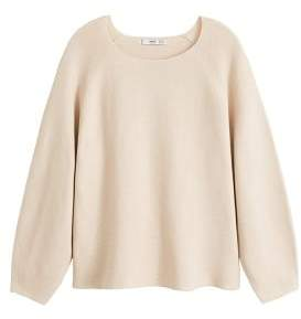 MANGO Long raglan sleeve sweater