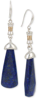 Robert Lee Morris Soho Two-Tone Stone Wire-Wrapped Drop Earrings