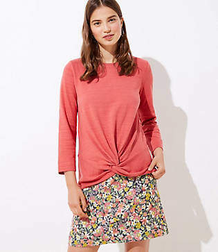 LOFT Twist Hem Sweatshirt