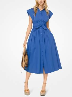 Michael Kors Stretch Cotton-Poplin Shirtdress