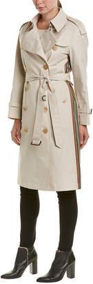 Burberry Striped Ribbon Cotton Gabardine Trench Coat
