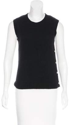 Chanel Pearl-Button Cashmere Top