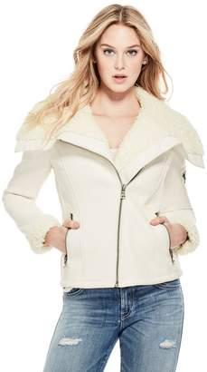 GUESS Women's Adeline Faux-Leather Jacket