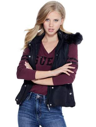 Factory Guess Women's Maule Belted Puffer Vest