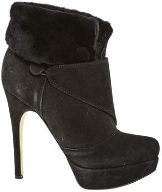 Twin-Set Twin Set Black Suede Ankle boots