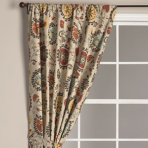 Suzani Print Extra Long Curtain Panel