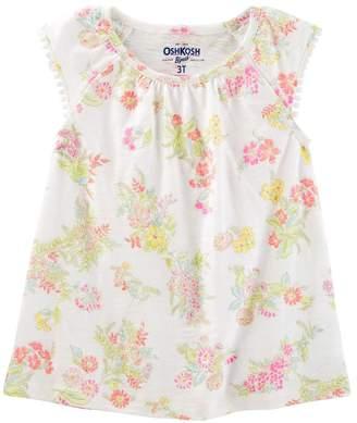 Osh Kosh Oshkosh Bgosh Toddler Girl Flutter Sleeve Floral Top