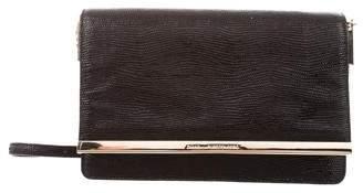 Diane von Furstenberg Embossed Leather Shoulder Bag