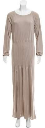 Calvin Klein Collection Long Sleeve Maxi Dress